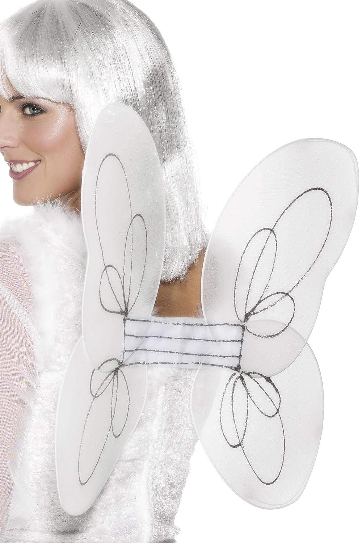 Smiffys Damen Glitzer Engelsflügel, One Size, Weiß und Silber, 25441 B000VO3IMW