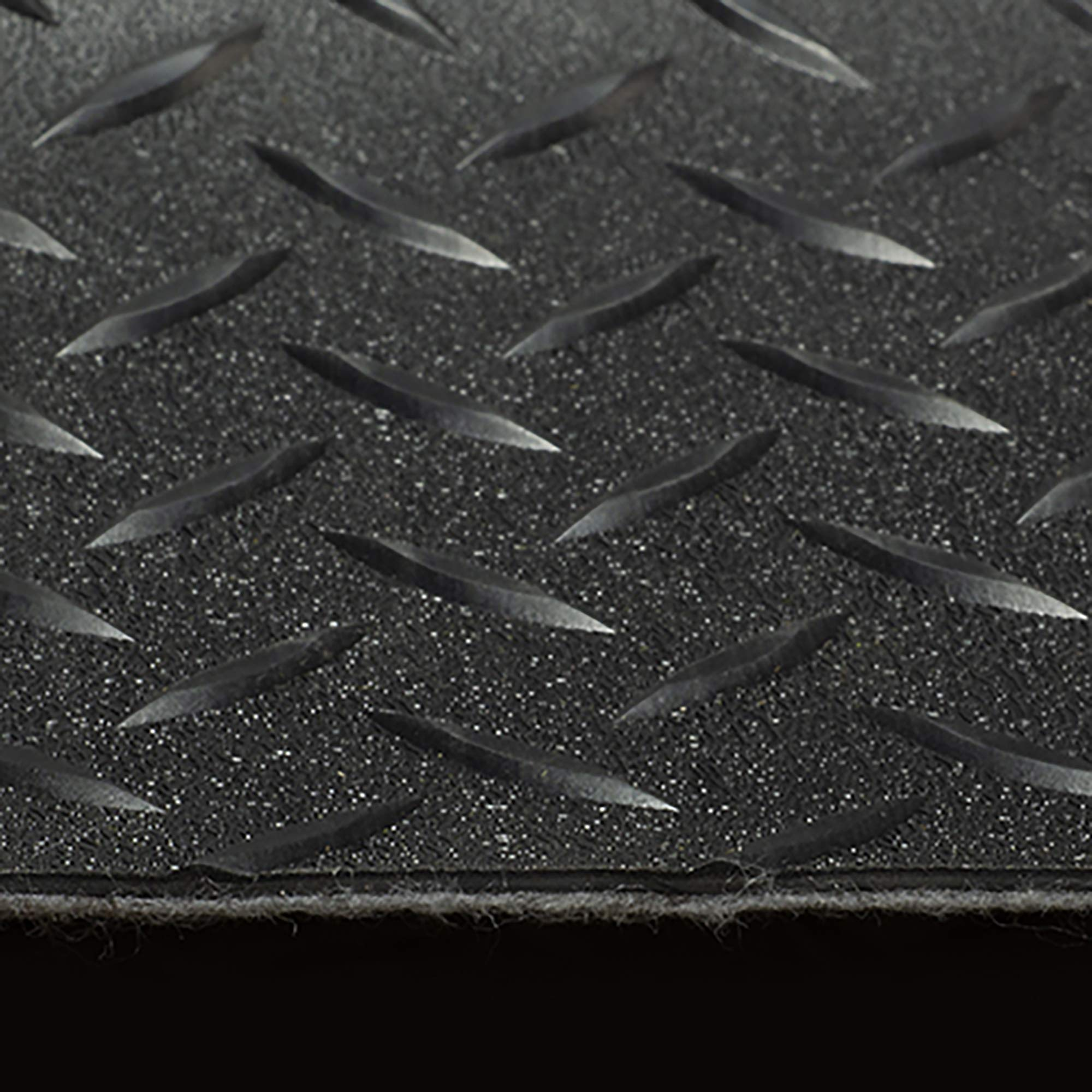 RV Trailer Diamond Plate Pattern Flooring | Black | 8' 2'' Wide | Rubber Flooring | Garage Flooring | Gym Flooring | Toy Hauler Flooring | Car Show Trailer Flooring (Black, 15') by RecPro (Image #2)