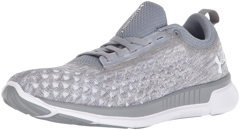 Under Armour Women's Lightning 2 Running Shoe B07199YJP6 5.5 M US|Steel (101)/White