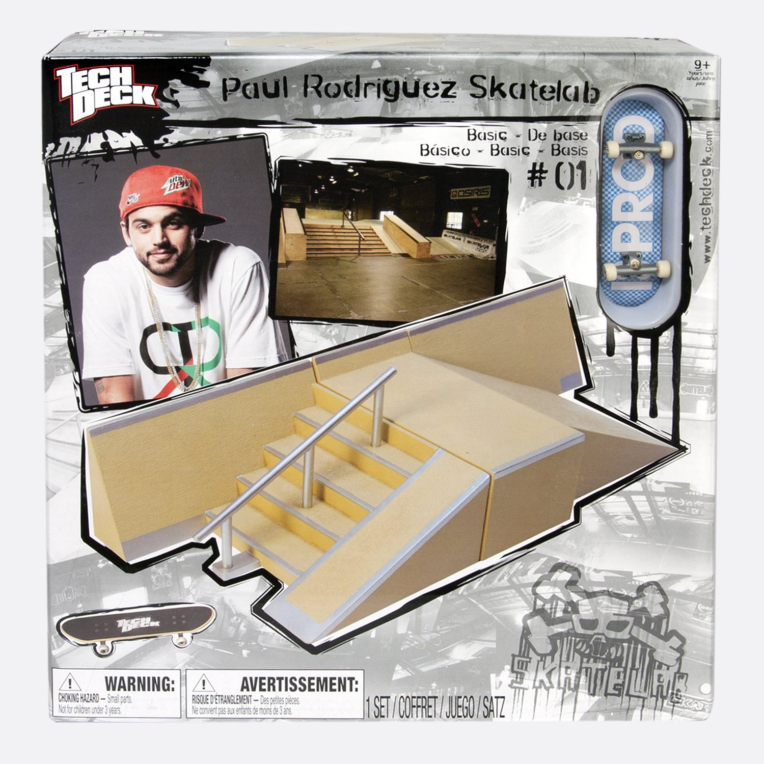 Tech Deck Small Sk8 Lab - Big Ramp And Quarter Obstacle by Spin Master