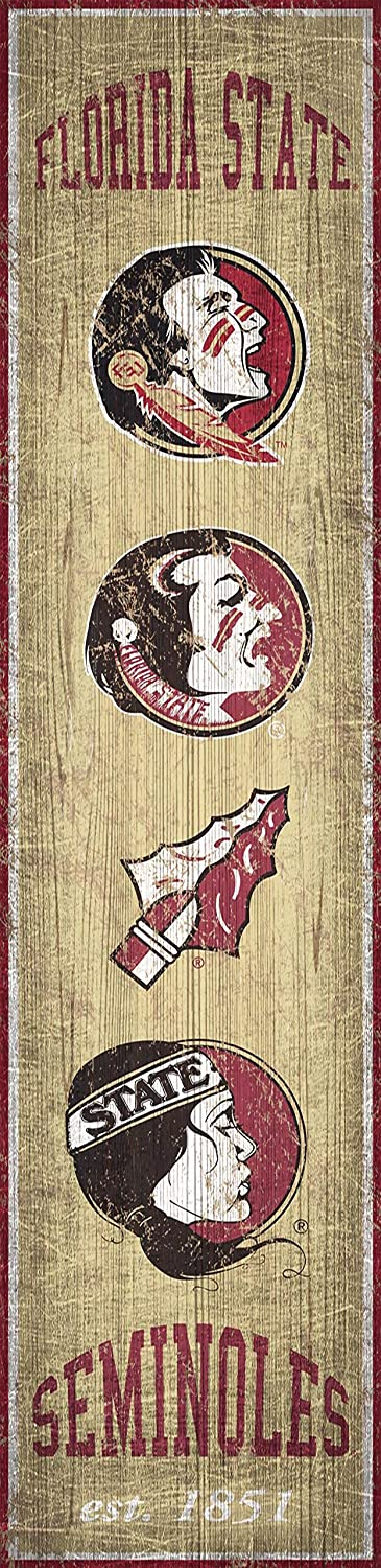Team NCAA Florida State Seminoles Unisex Florida State Heritage Banner Vertical 6x24 6 x 24