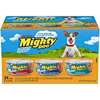 Purina Mighty Dog Ground Wet Dog Food Variety Pack - (24) 5.5 oz. Cans