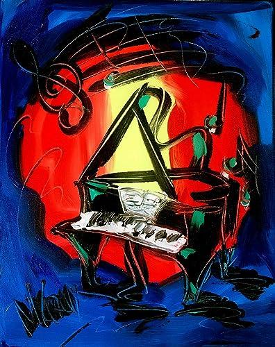 Amazon Com Music Art Piano 20 Original Paintings Artwork