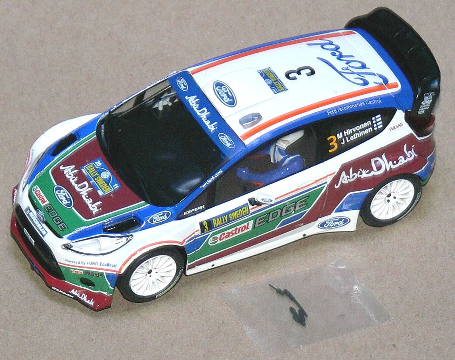 Scalextric Original Ford Fiesta RS WRC coche slot analógico AS