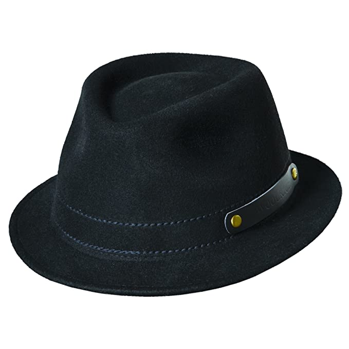 afd9a33c Woolrich Men's Crushable Wool Felt Rollup Four Season Fedora Hat (XL, Black)