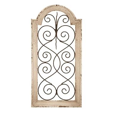 Deco 79 52790 Wood Metal Wall Panel, 10  W x 20  H