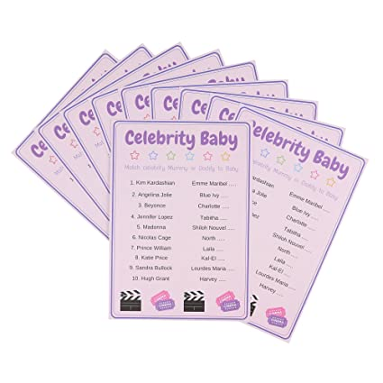 Baby Shower Games Baby Trivia Quiz Unisex Pack Of 10 Cards Juvivir Uk