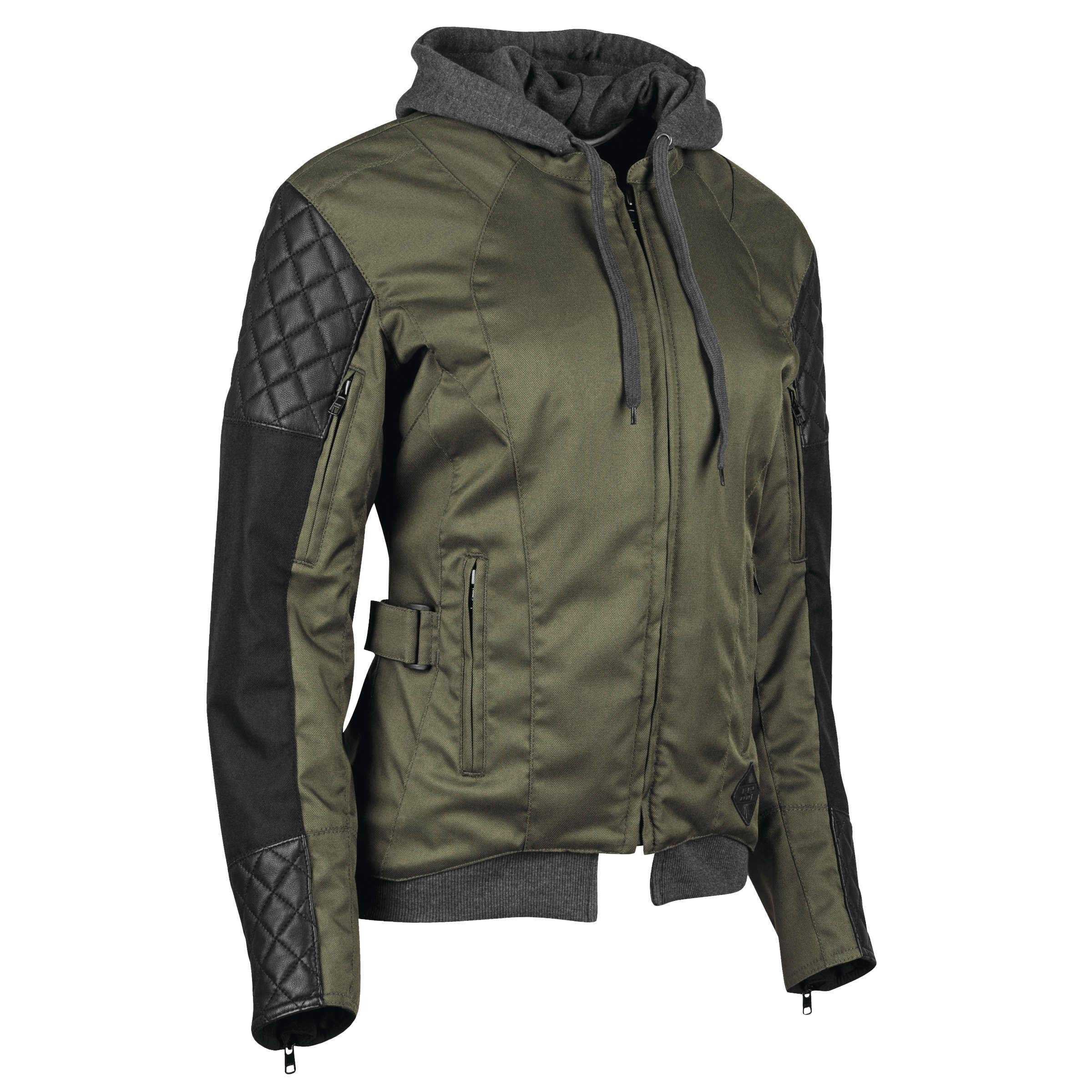 Speed & Strength Women's Double Take Textile Jacket (X-SMALL) (OLIVE/BLACK)