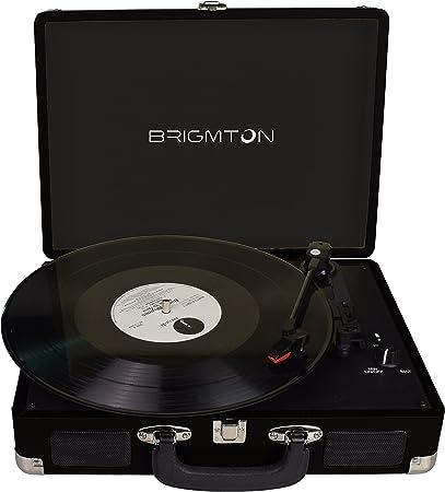 Brigmton BTC-404-N tocadisco - Tocadiscos (DC, Negro): Amazon.es ...