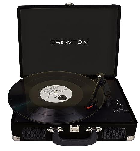 Brigmton BTC-404-N tocadisco - Tocadiscos (DC, Negro)