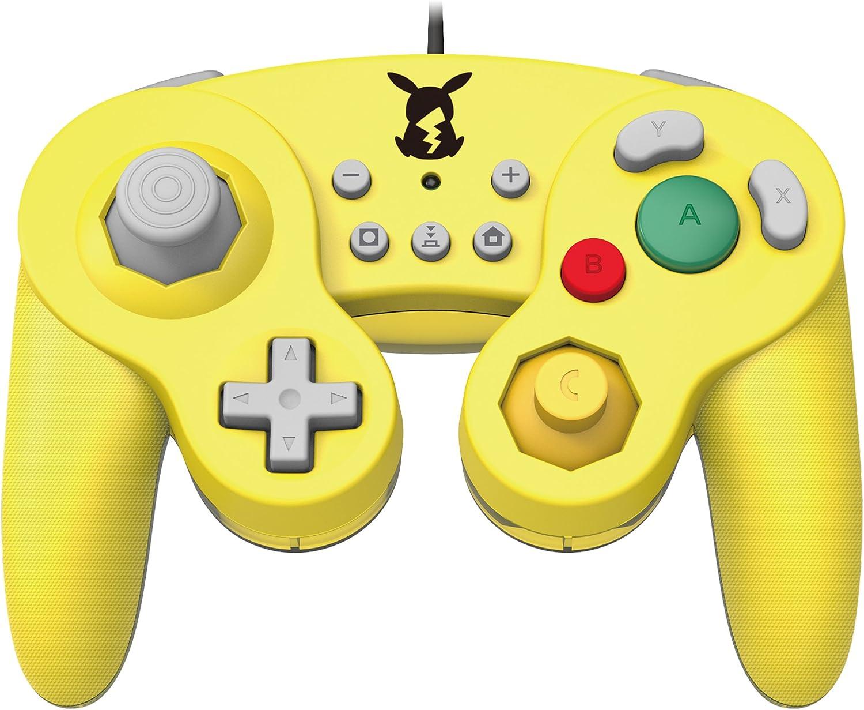Official Nintendo Licensed Smash Bros Gamecube Style Controller for Nintendo Switch Pikachu Version - Nintendo Switch [Importación inglesa]