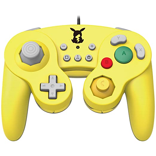 Official Nintendo Licensed Smash Bros Gamecube Style Controller For Nintendo Switch Pikachu Version by Hori