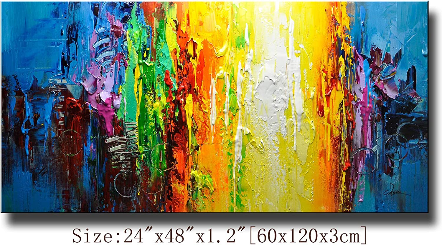 Lot Modern Large Unframed Picture Abstract Canvas Wall Oil Painting Home Decor