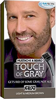 Amazon.com : Just for Men Touch of Gray Mustache & Beard Hair ...