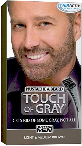 Amazon.com : Touch of Gray Mustache and Beard Color, Light ...