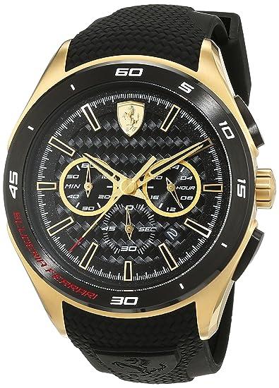 Ferrari 0830346 Gran Premio - Reloj analógico de pulsera para hombre (cuarzo, correa de