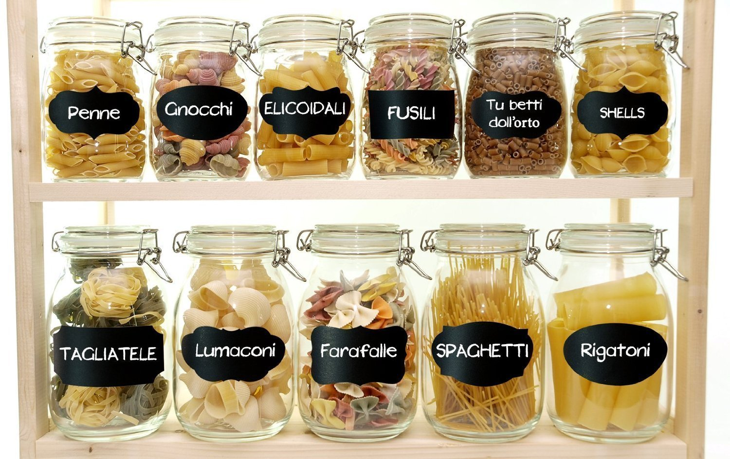 Mason Jars Labels, 60 Chalkboard Label Stickers - Canisters Labels - Chalk Makers Erasable by Co Glow (Image #6)