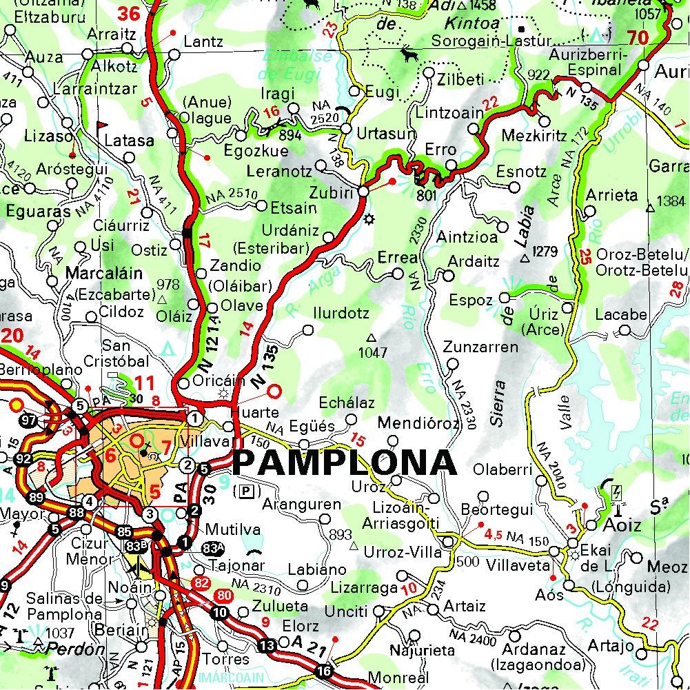 Mapa Regional País Vasco/Euskadi, Navarra, La Rioja Carte regionali: Amazon.es: Vv.Aa, Vv.Aa: Libros