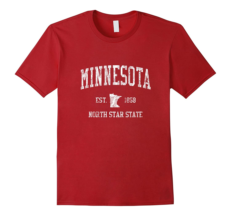 Retro Minnesota T Shirt Vintage Sports Tee Design-T-Shirt