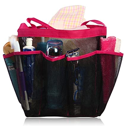 Agile-Shop Mesh Shower Caddy, 8 Pockets Quick Dry Hanging Toiletry ...