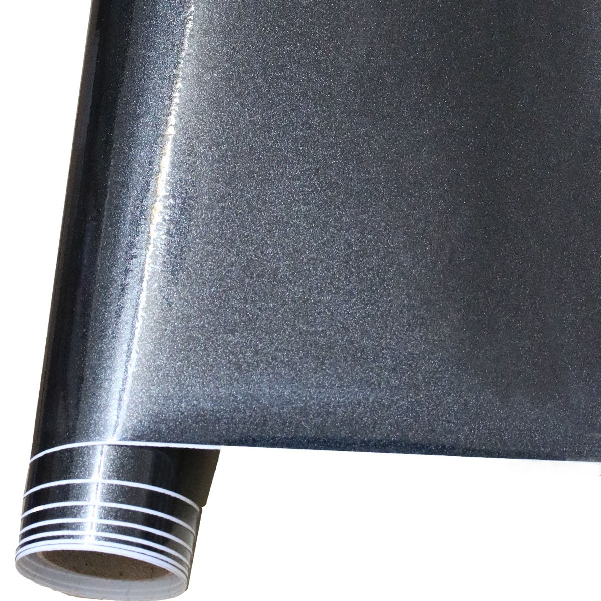 15.9 x 118 AllwaySmart EZPaper 9.8 feet Glossy metallic black contact paper for countertops self adhesive shelf paper vinyl wallpaper for dresser cabinet and car interior decor