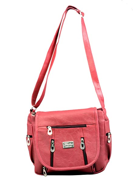 404c11a23d KUSUM FASHION ACCESSORIES Women s Canvas Sling Bags (Maroon)  Amazon ...