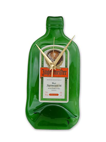BottleClock - Reloj con forma de botella de Jägermeister