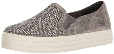Skechers Women s Double up-Shiny Dancer Fashion Sneaker Pewter 6 ... cc8bbbfe6