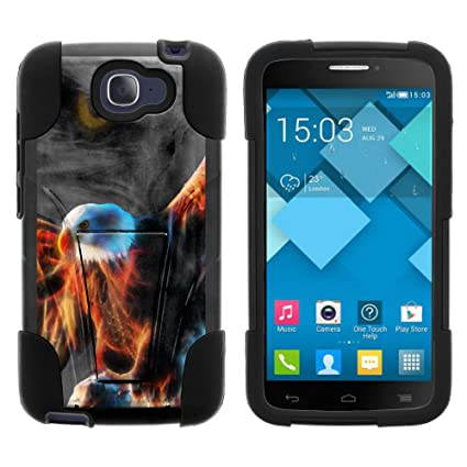 Alcatel One Touch Fierce 2 Case, Durable Hybrid STRIKE Impact Kickstand Case with Art Pattern