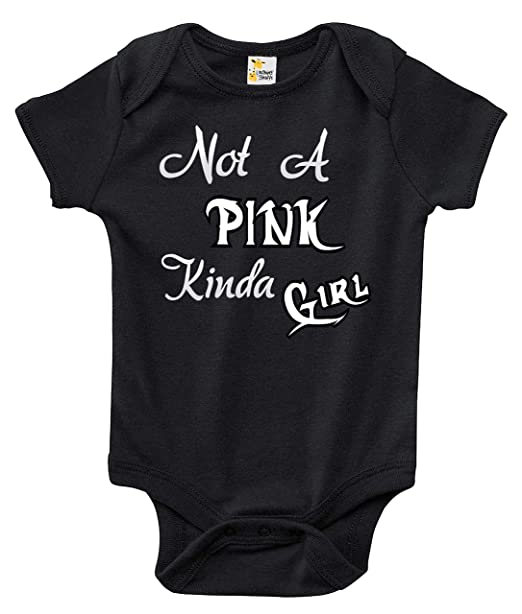 Amazon Com Not A Pink Kinda Girl Baby Bodysuit Cute Baby Clothes