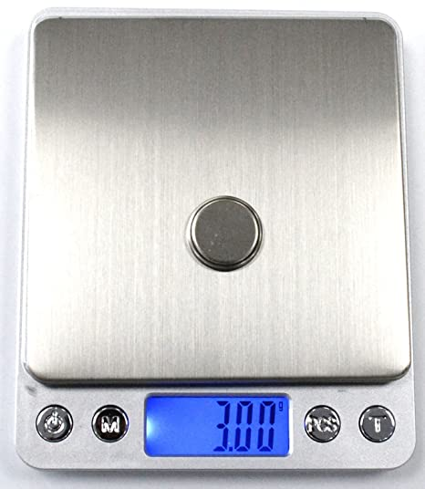 Amazon.com: Digital Table TOP Scale Professional Tare Calibration 500G/0.01G Large Stainless Steel Back Light DISPALY: Home & Kitchen