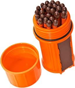 UCO Stormproof Match Kit with Waterproof Case, 25 Stormproof Matches and 3 Strikers