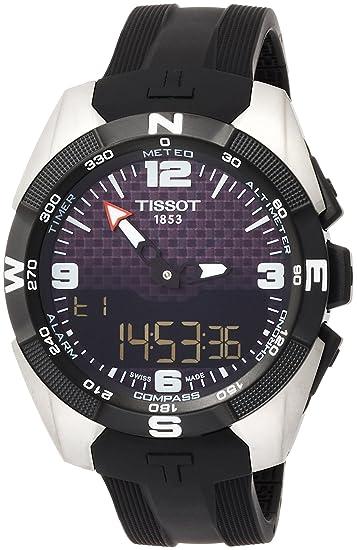 TISSOT RELOJ DE HOMBRE CUARZO 45MM CORREA DE SILICONA T0914204720701: Amazon.es: Relojes