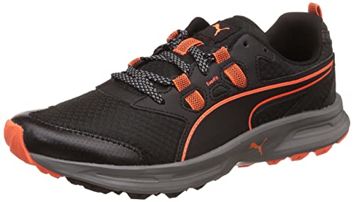 5d756ee8919d99 Puma Men s Essential Trail Black-Quiet Shade-Shocking Orange Trail Running  Shoes - 7