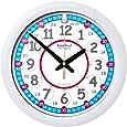 EasyRead time teacher ERC-RB-24 Wanduhr, Rot Blau, 12-24 Stunden