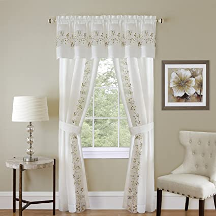 Amazon Com Achim Home Furnishings Kenya Window Curtain Panel Black