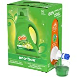 Gain Liquid Laundry Detergent Soap Eco-Box, Ultra Concentrated High Efficiency (HE), Original Scent, 96 Loads