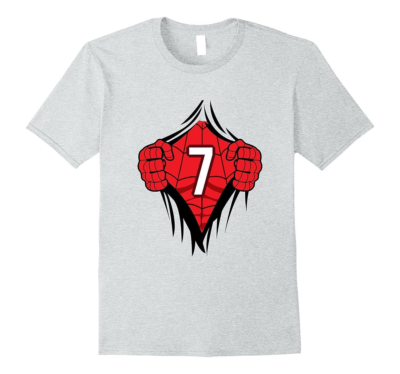 b8ed81886 Superhero Birthday Shirt 7 Year Old Tshirt Girls Boys Comic-FL ...