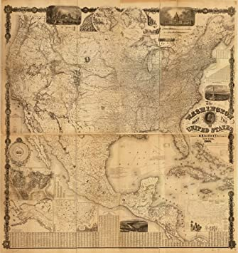 Amazon vintage 1868 map of the washington map of the united vintage 1868 map of the washington map of the united states north america united gumiabroncs Choice Image