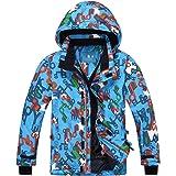 PHIBEE Big Boys' Outdoor Waterproof Fleece Warm Snowboard Ski Jacket