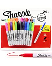 24 + 1 SHARPIE Markers Coloured Permanent Sharpies Marker Pen Bulk Fine Point ( 25 Markers in Total )
