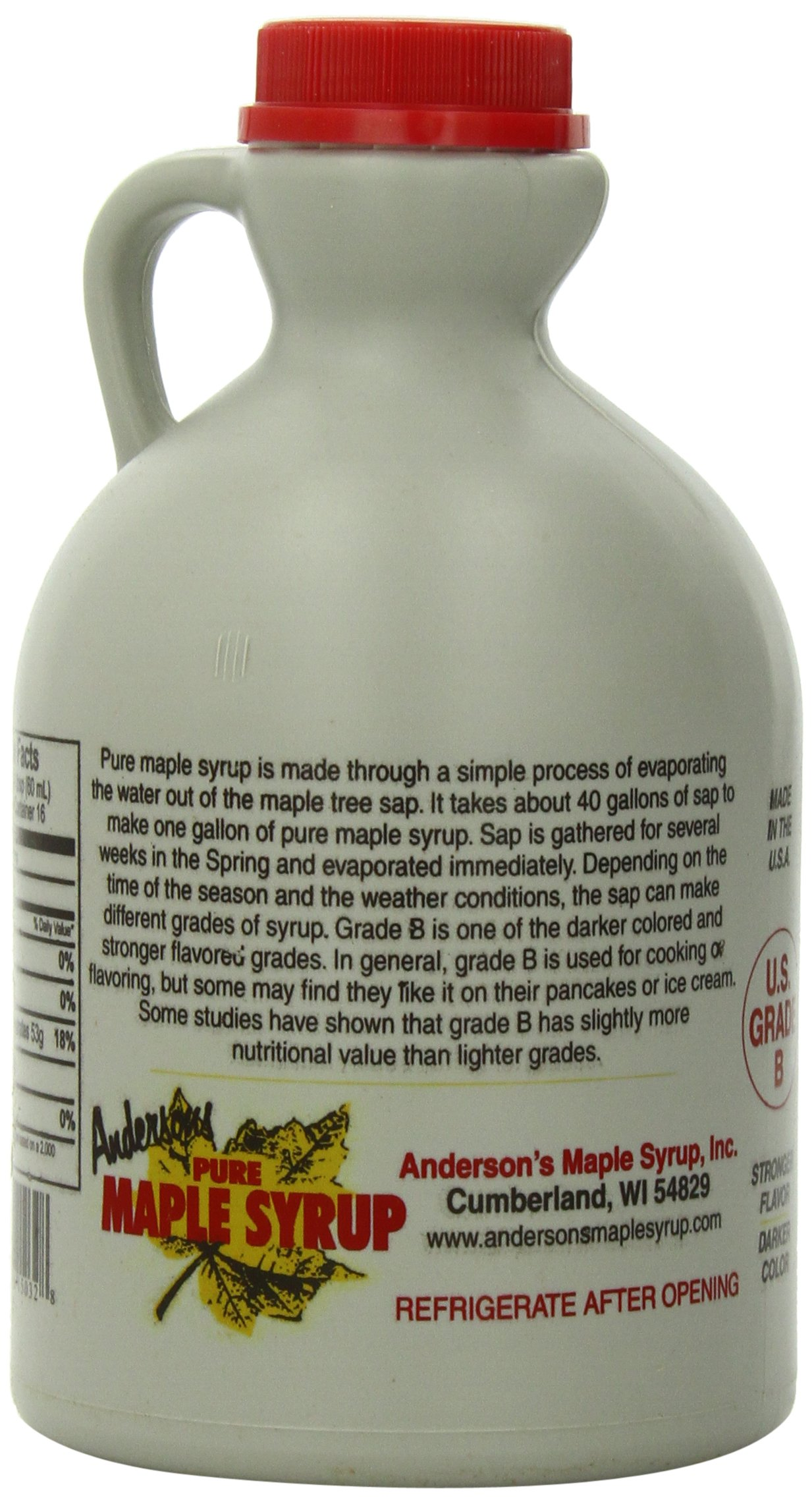 Anderson's Pure Maple Syrup, Grade B, 32-Ounce by Anderson's (Image #4)