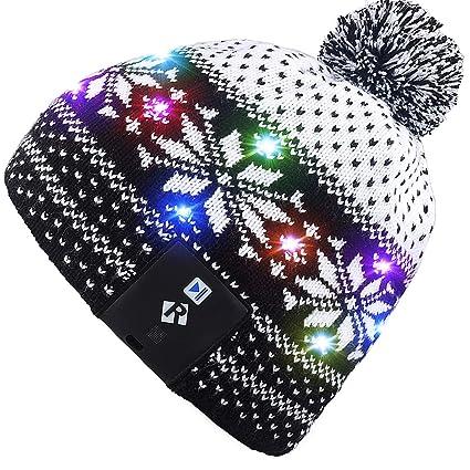 89c639da757 Mydeal Stylish Unisex Men Women LED Light Up Beanie Hat Cap for Indoor