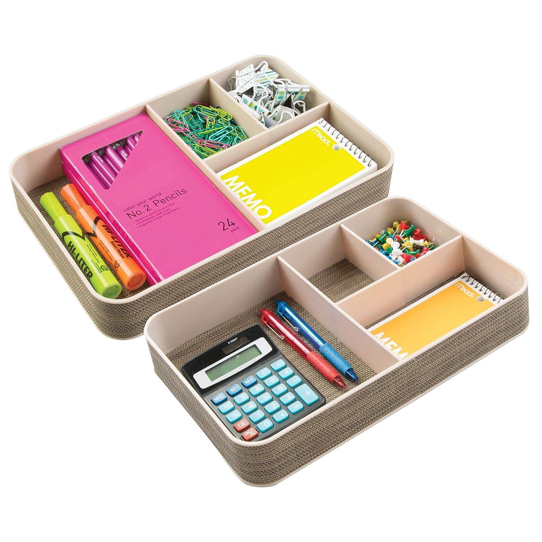 amazon com mdesign plastic divided drawer organizer for home rh amazon com office desk drawer organizer uk best office desk drawer organizer
