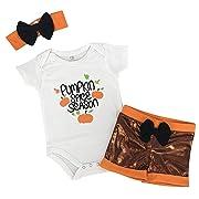 Unique Baby Girls My 1st Thanksgiving Onesie Pumpkin Patch Layette Set Pumpkin Spice Season (Newborn)