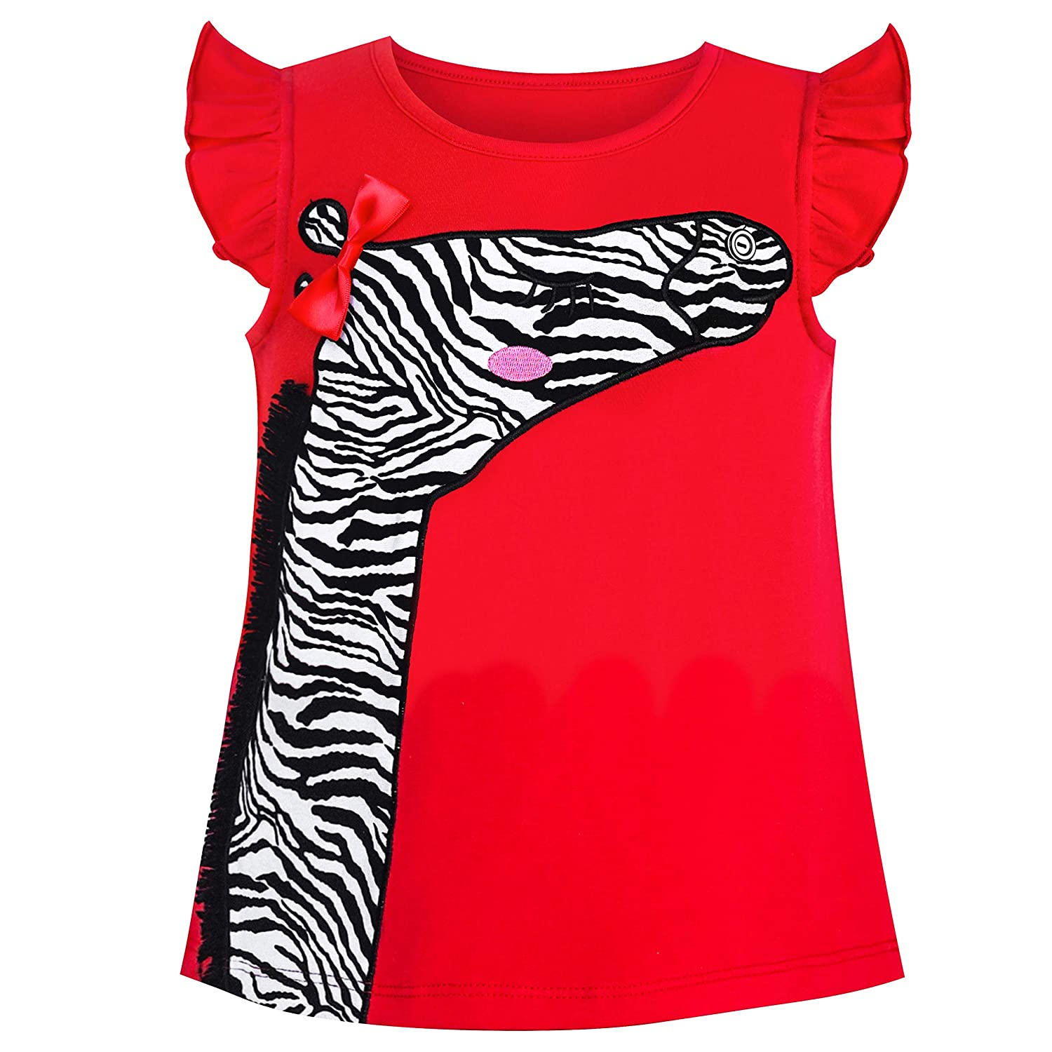 Girls Outfit Set Tee and Pants Zebra Clothing Set Age 2-6 Years