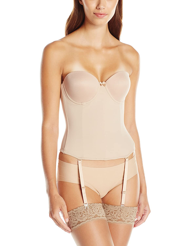 66c606708ab7d Va Bien Womens Ultra-Lift Low Back Bustier Shapewear Bodysuit  Amazon.ca   Clothing   Accessories