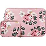 MOSISO Laptop Sleeve Compatible 2018 MacBook Air 13 A1932 Retina Display/MacBook Pro 13 A1989/A1706/A1708 USB-C 2018 2017 2016/Surface Pro 6, Water Repellent Neoprene Bag with Small Case, Rose Pink