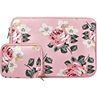 MOSISO Funda Protectora Compatible 13-13.3 Pulgadas MacBook Air/MacBook Pro/Pro Retina/Surface Laptop 2 2018 2017/Surface Book 2/1, Repelente de Agua Neopreno con Pequeño Caso, Rosa Rosa