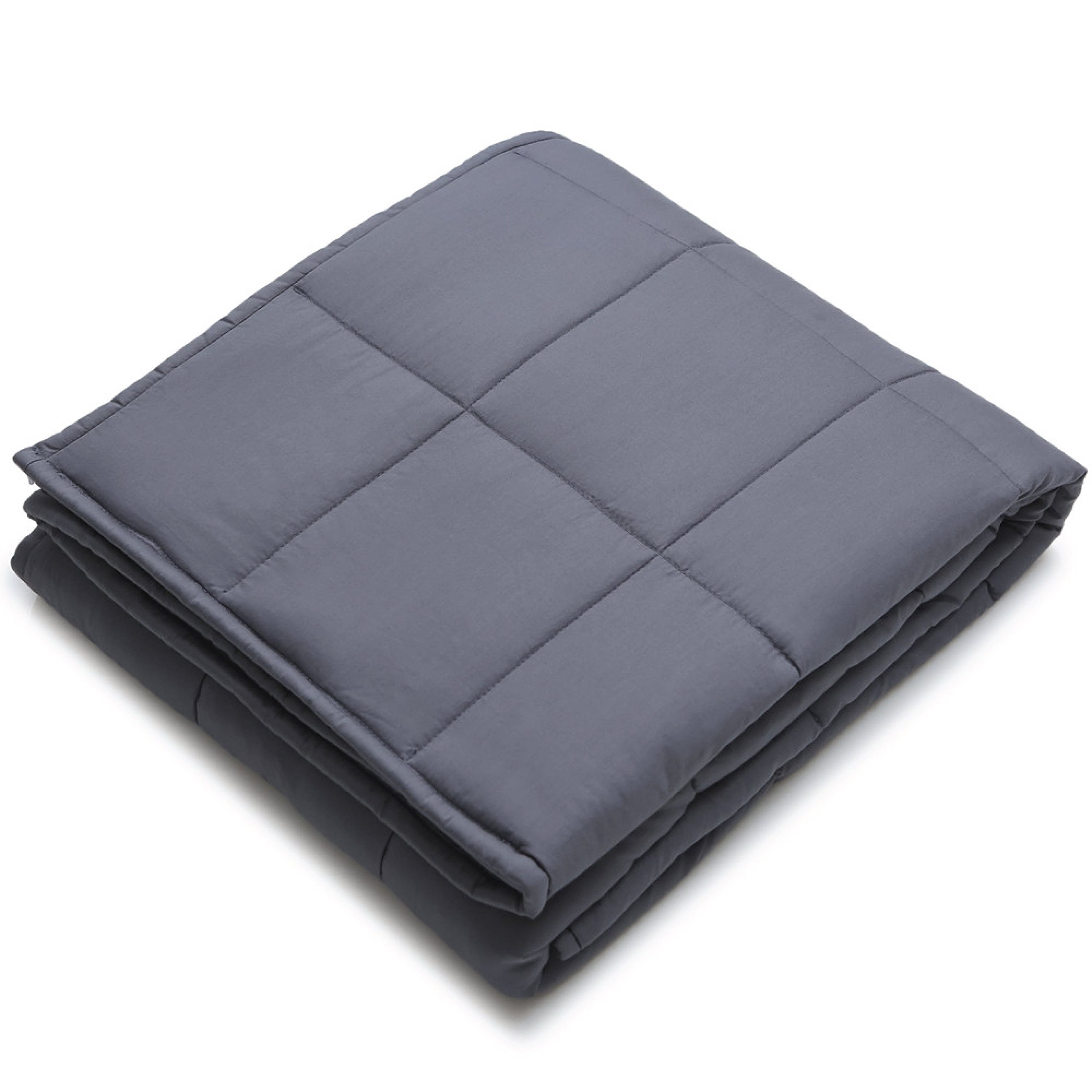 YnM Weighted Blanket, 5 lbs for 40 lbs Individuals | 100% Cotton Material with Glass Beads, 36'' x 48'' (Dark Grey) by YnM